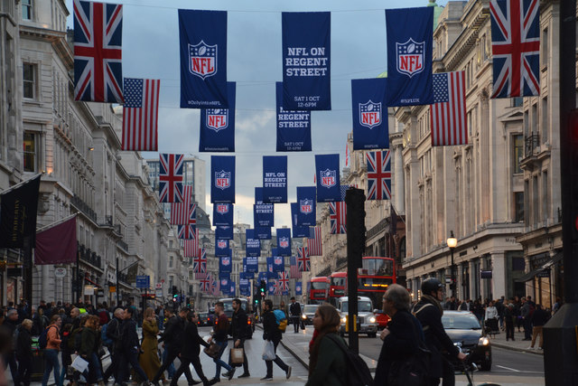 London+celebrates+the+NFL+