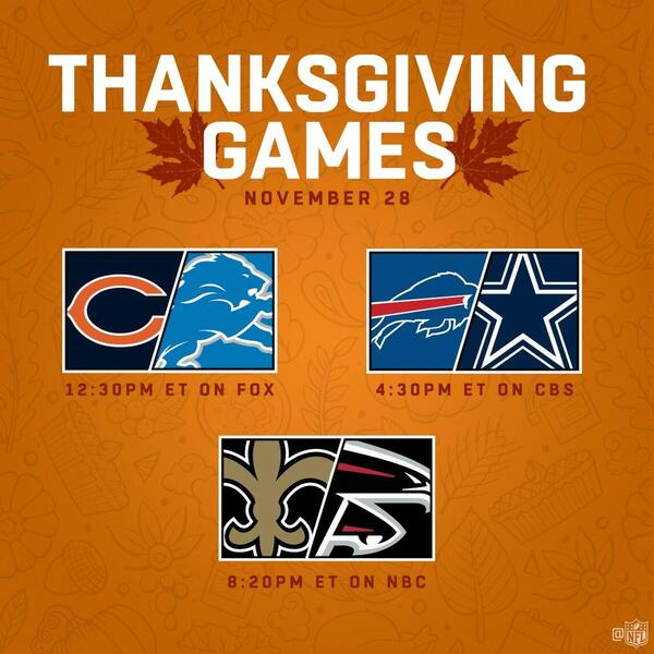 Thanksgiving game line up