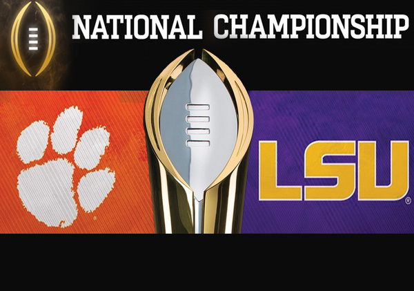 The LSU Tigers win the 2020 FBS National Championsip!