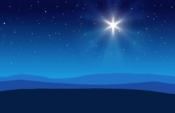 The Christmas Star lined up on December 21, 2020.
