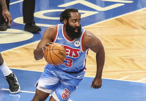 James Harden has taken on the role of point guard with the Brooklyn Nets.