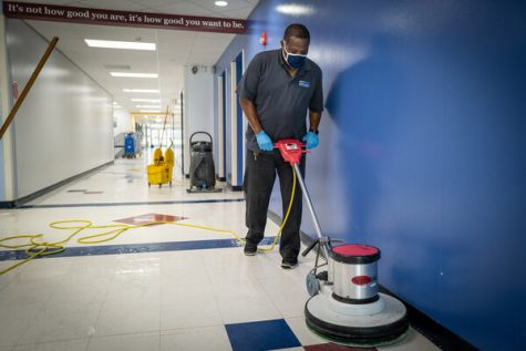 Janitors play an important role in keeping schools Covid-19 free.